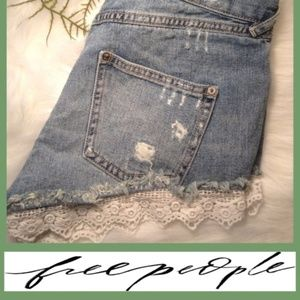 Distressed Lace Shorts